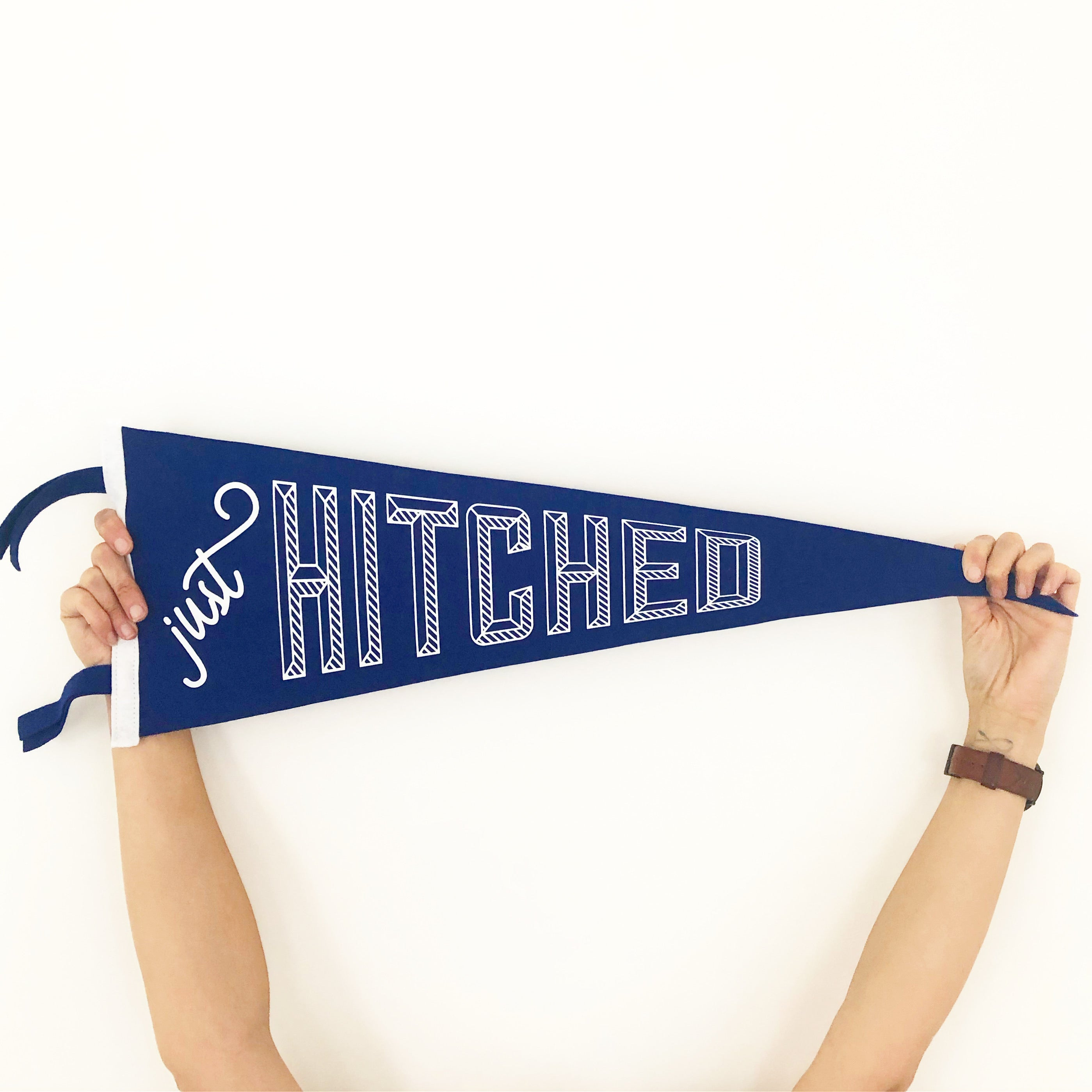 Just Hitched • Wedding Pennant