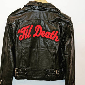 'Til Death • Leather Jacket + Chenille Patch