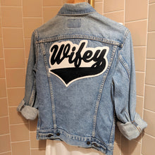Load image into Gallery viewer, Wifey • Denim Jacket + Chenille Patch
