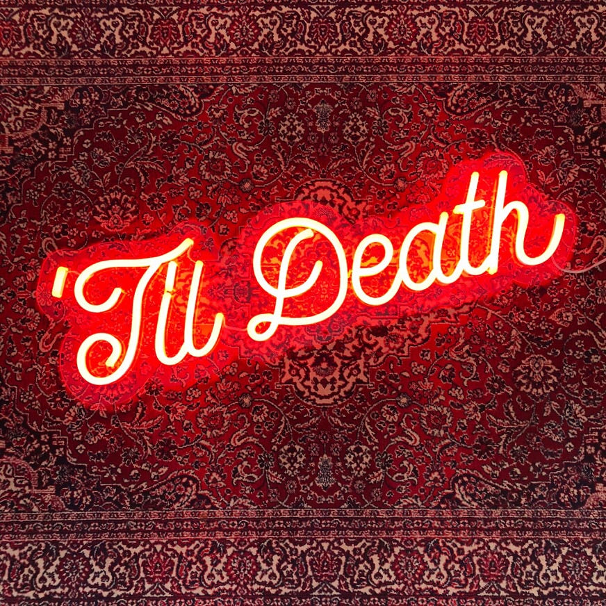 Yeah Neon 'Til Death Wedding Neon Sign