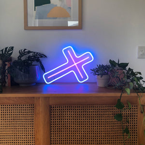 Yeah Neon Cross Crucifix Neon Light Sign