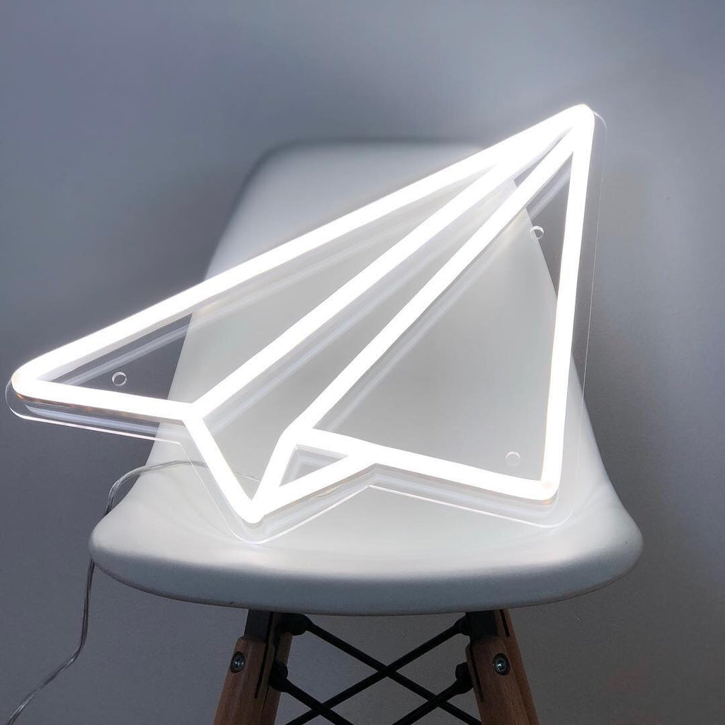 Yeah Neon Paper Plane Neon Light Sign