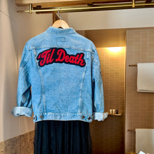Load image into Gallery viewer, 'Til Death • Denim Jacket + Chenille Patch