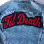 'Til Death • Wedding Chenille Patch