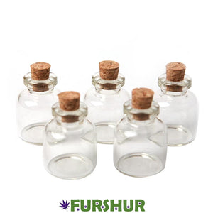 High Quality Glass Jar with Cork Stopper x5