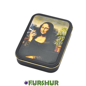 King Size Metal Tobacco Box - Mona Lisa