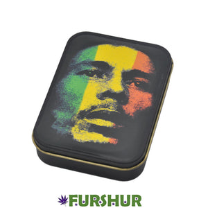 King Size Metal Tobacco Box - Bob Marley