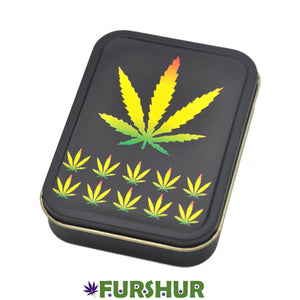 King Size Metal Tobacco Box - Weed Party