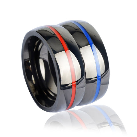 Police & Firefighter Rings - Thin blue Line / Red Line