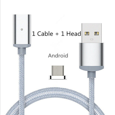 Magnetic 3 in 1 USB Fast Charging Cable - Iphone, Android & Type C