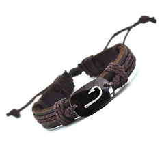 Hand Crafted Animal Series Leather Bracelet - Fish Hook