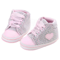 0-18M Baby Girls Shoes Canvas Sneaker Anti-slip Soft Sole