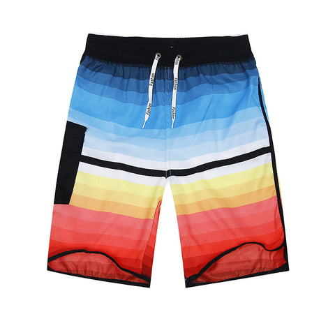Beach Shorts - Striped Quick Dry