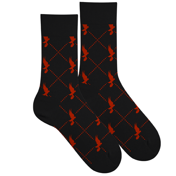 Dove Pattern Socks