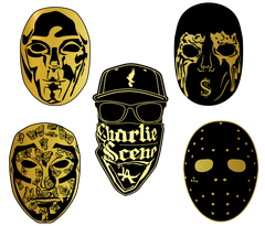 Mask Enamel Pin Set