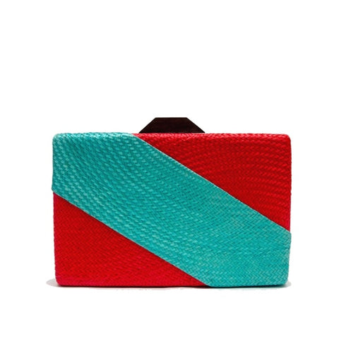 BICOLOR CLUTCH BAG