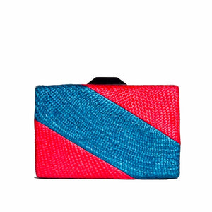 BICOLOR BLUE CLUTCH BAG