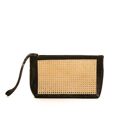 BLACK SOLE CLUTCH BAG