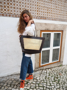 BROWN SOLE TOTE BAG