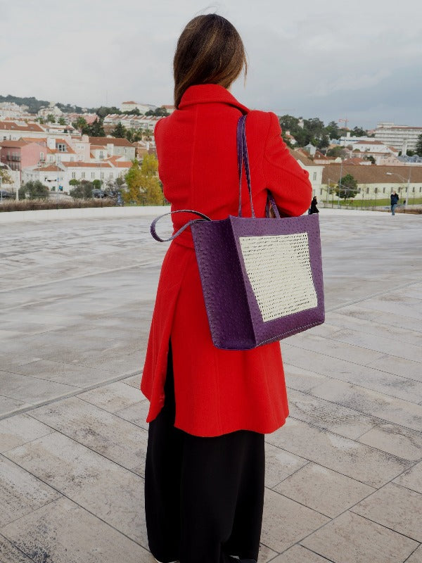 PURPLE TOTEBAG & CLUTCH |2 BAGS IN 1
