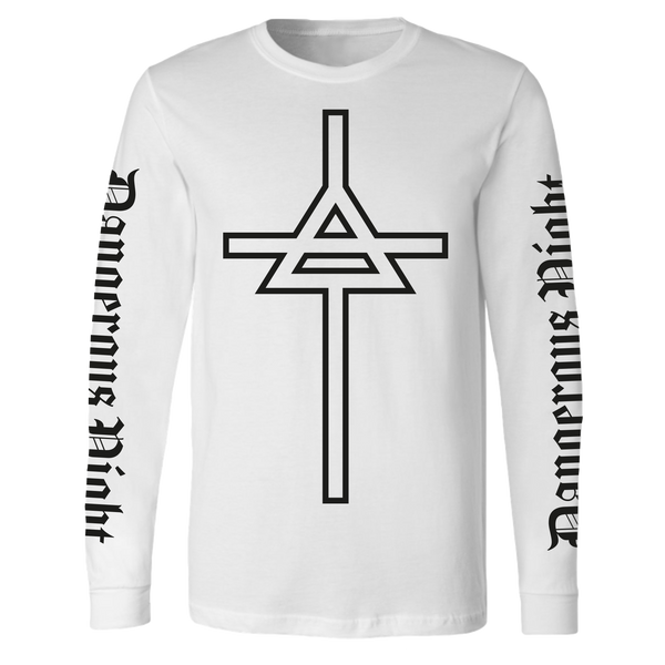 Dangerous Night White Long Sleeve Tee
