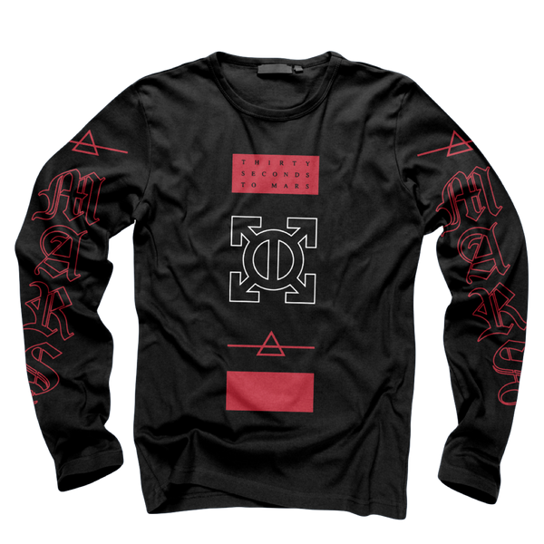 Epsilon Black Long Sleeve Tee