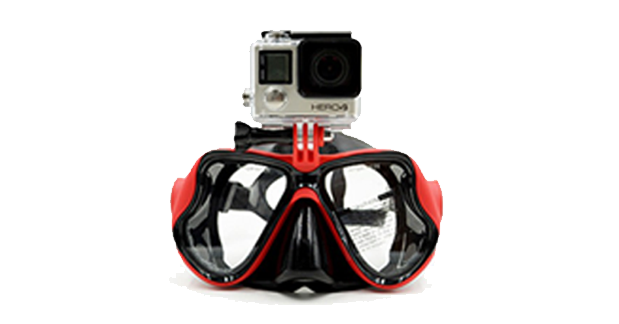 Snorkeling Diving Mask With Camera Mount