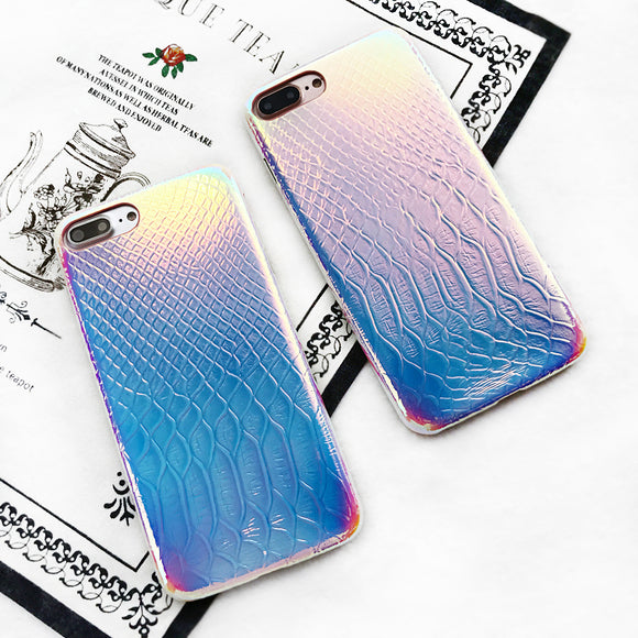 Croco - Crocodile Skin Iridescent iPhone Case