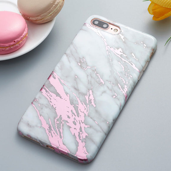Candy - Pink Marble iPhone Case