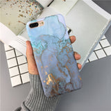 Enchanted - Blue/Pink Marble iPhone Cases
