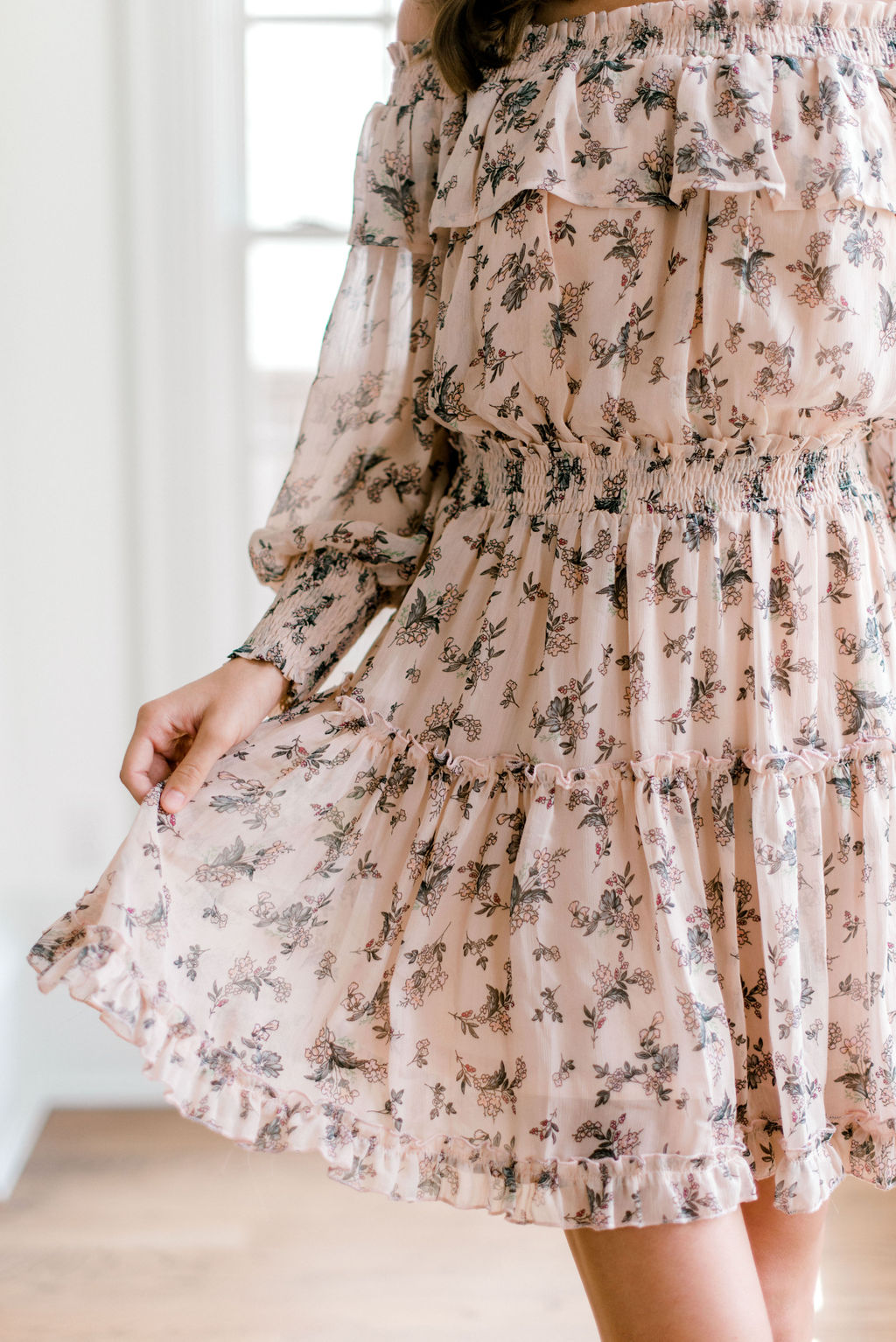 Free Floral Off The Shoulder Mini Dress