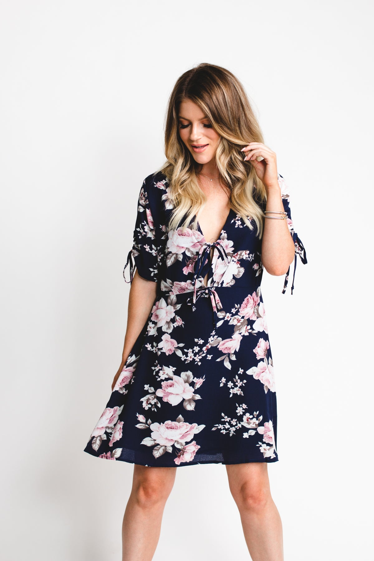 Pretty In Peonies Tie-Front Dress  *FINAL SALE*