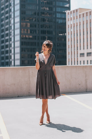 Wild Rose Tie Dress