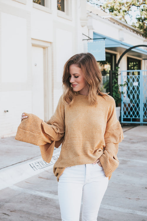 Mess Is Mine Sweater - Mustard *FINAL SALE*