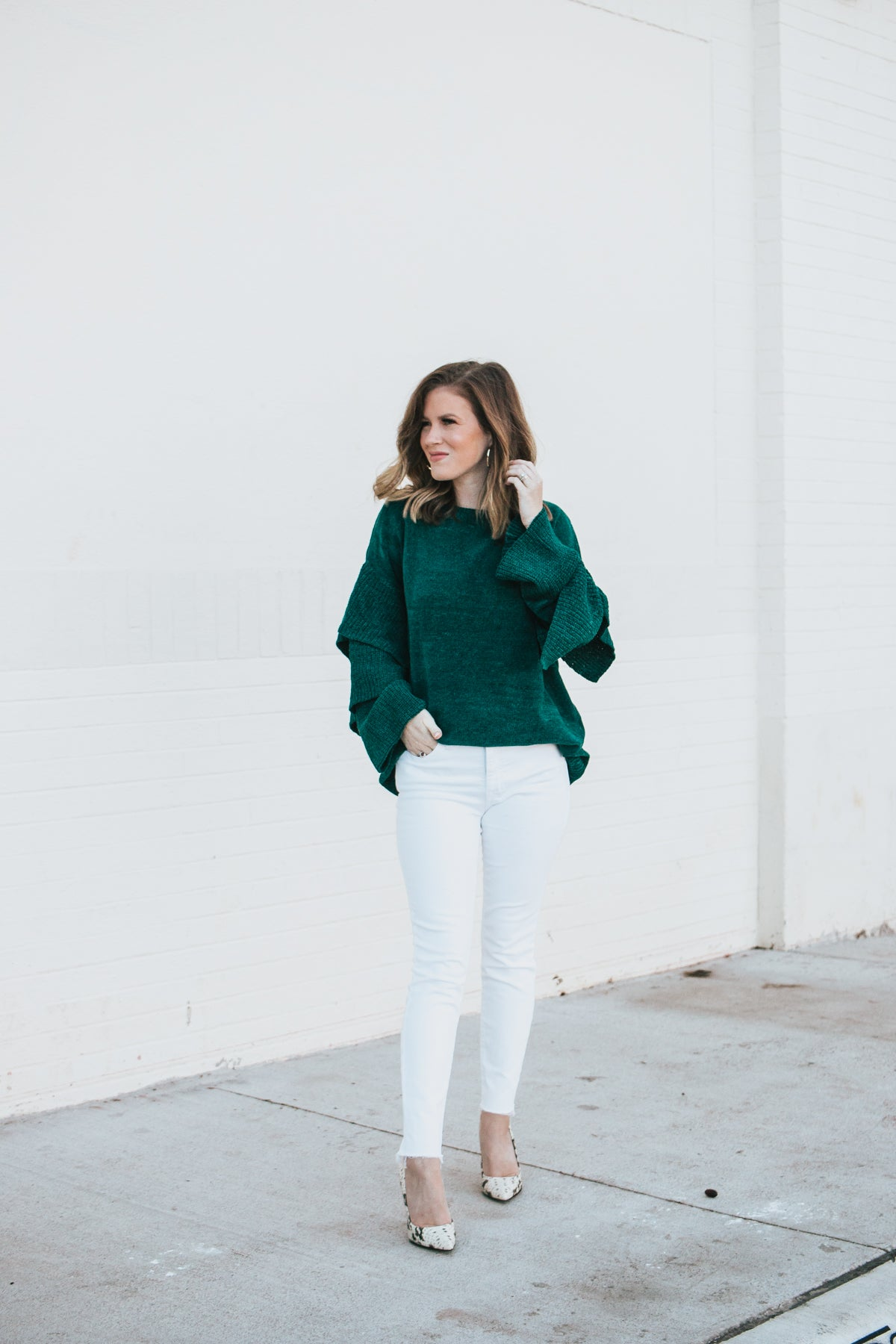 Mess Is Mine Sweater - Emerald