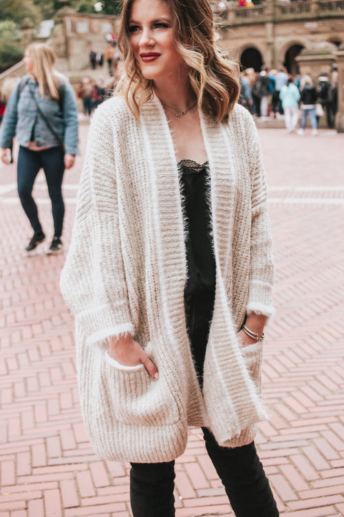 Crazy Over Me Cardigan - Beige