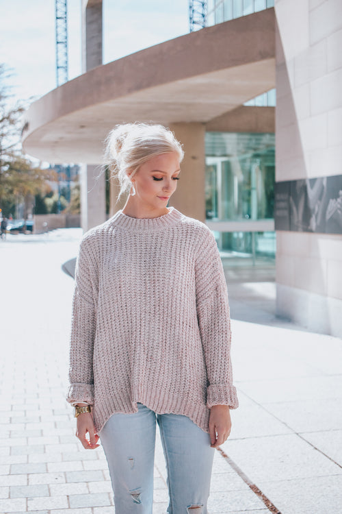 Twig Scalloped Sweater