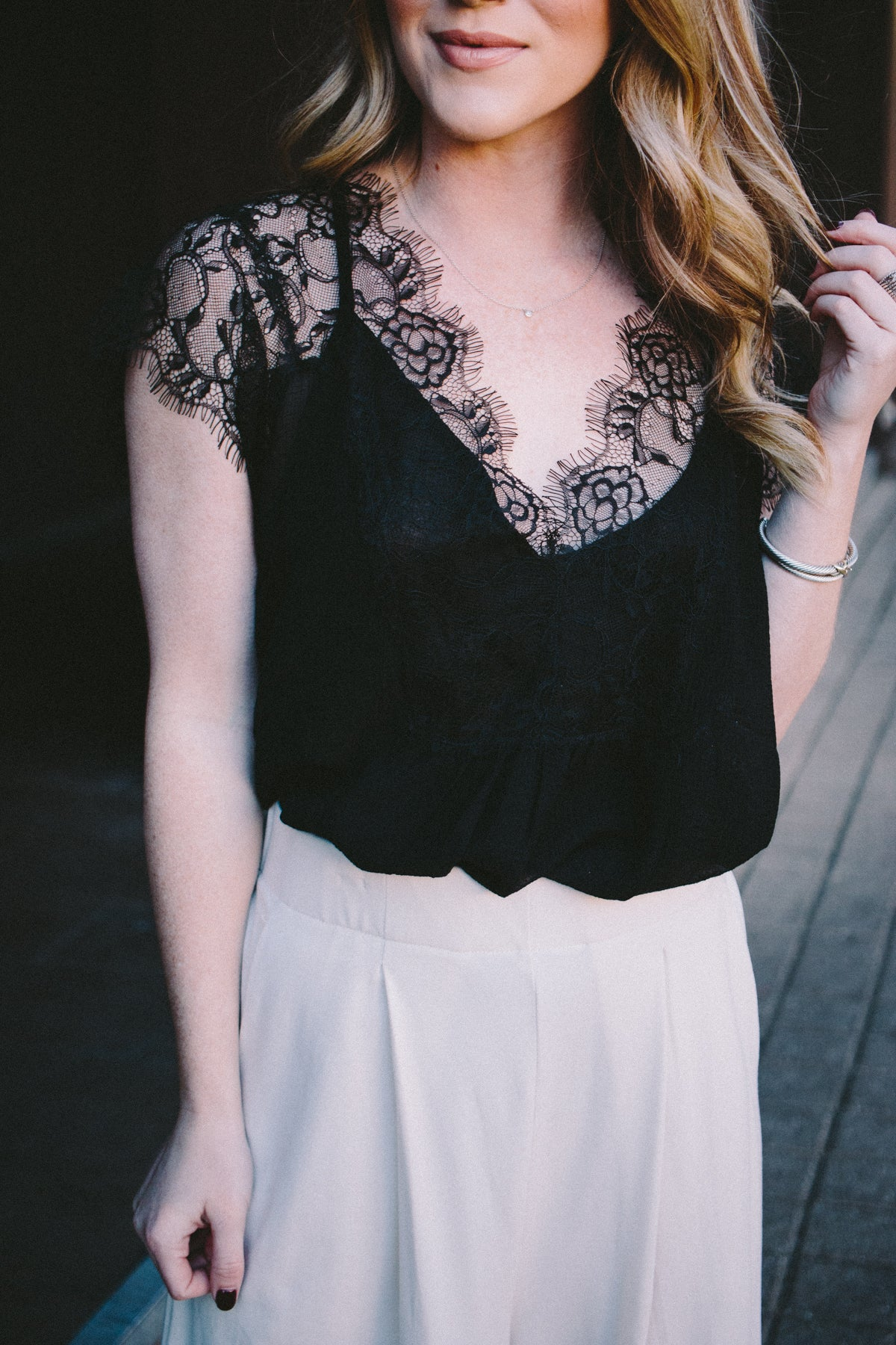 Laced In Love Top - Black