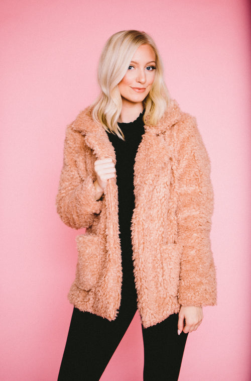 Blush Teddy Bear Jacket