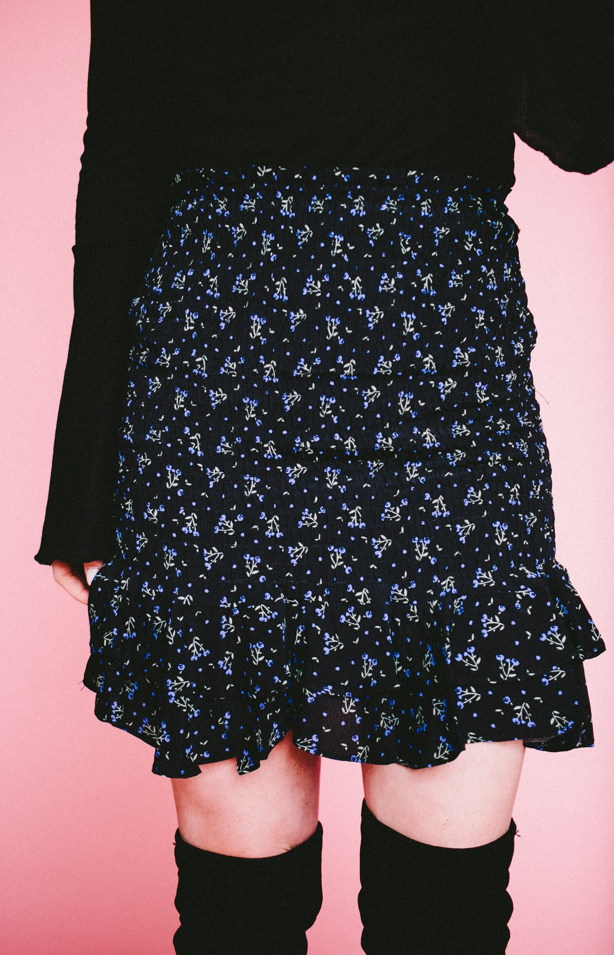 Midnight Floral Skirt