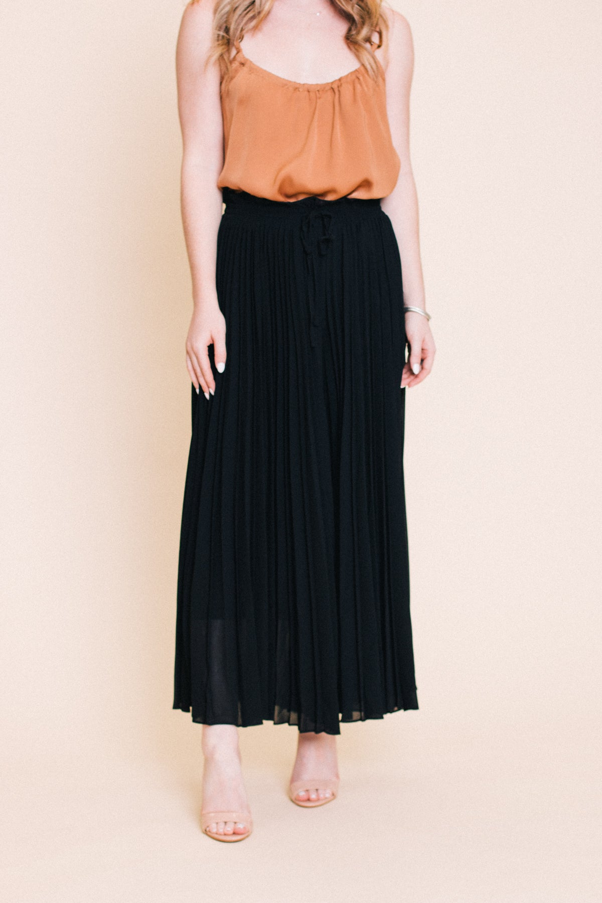 Take Me To Paris Pleated Palazzo Pants