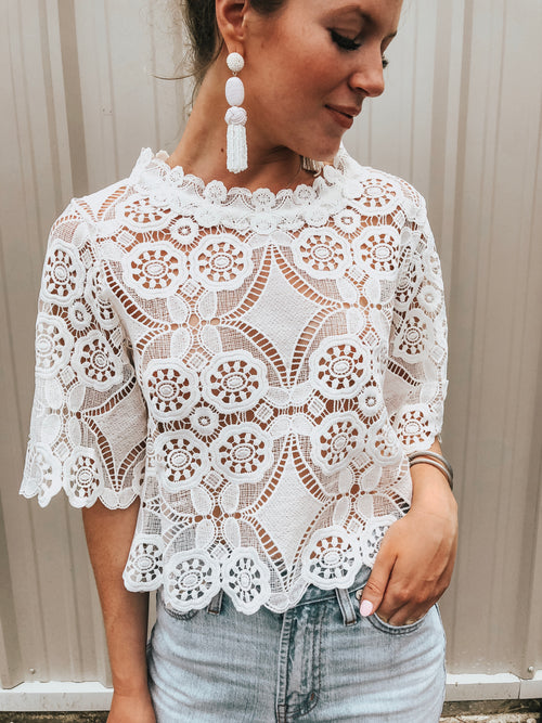 Take My Heart Lace Top