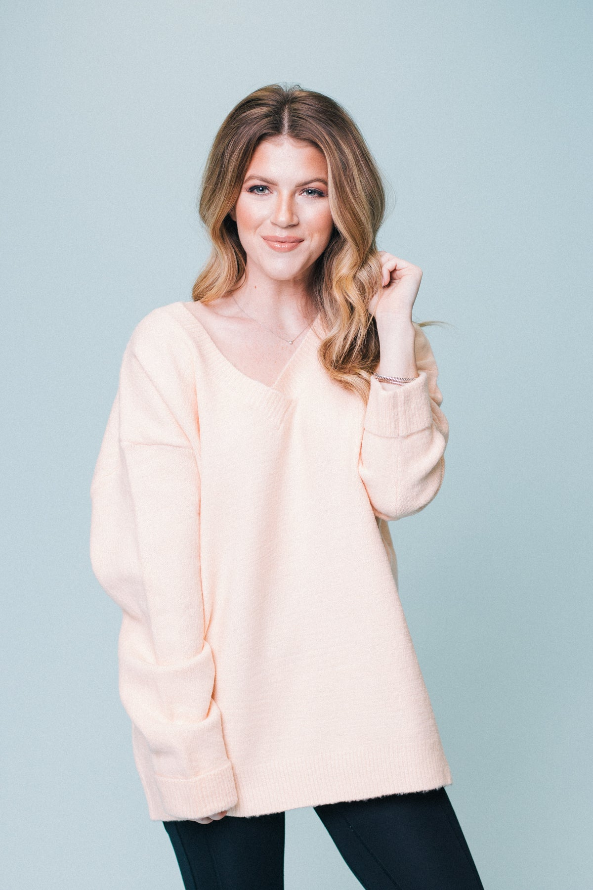 Just Peachy Knit Sweater