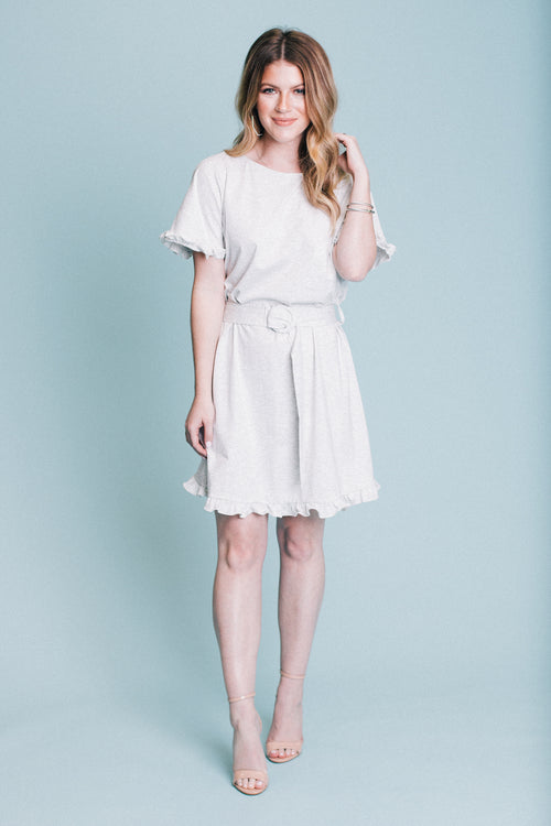 Belted Knit Shift Dress