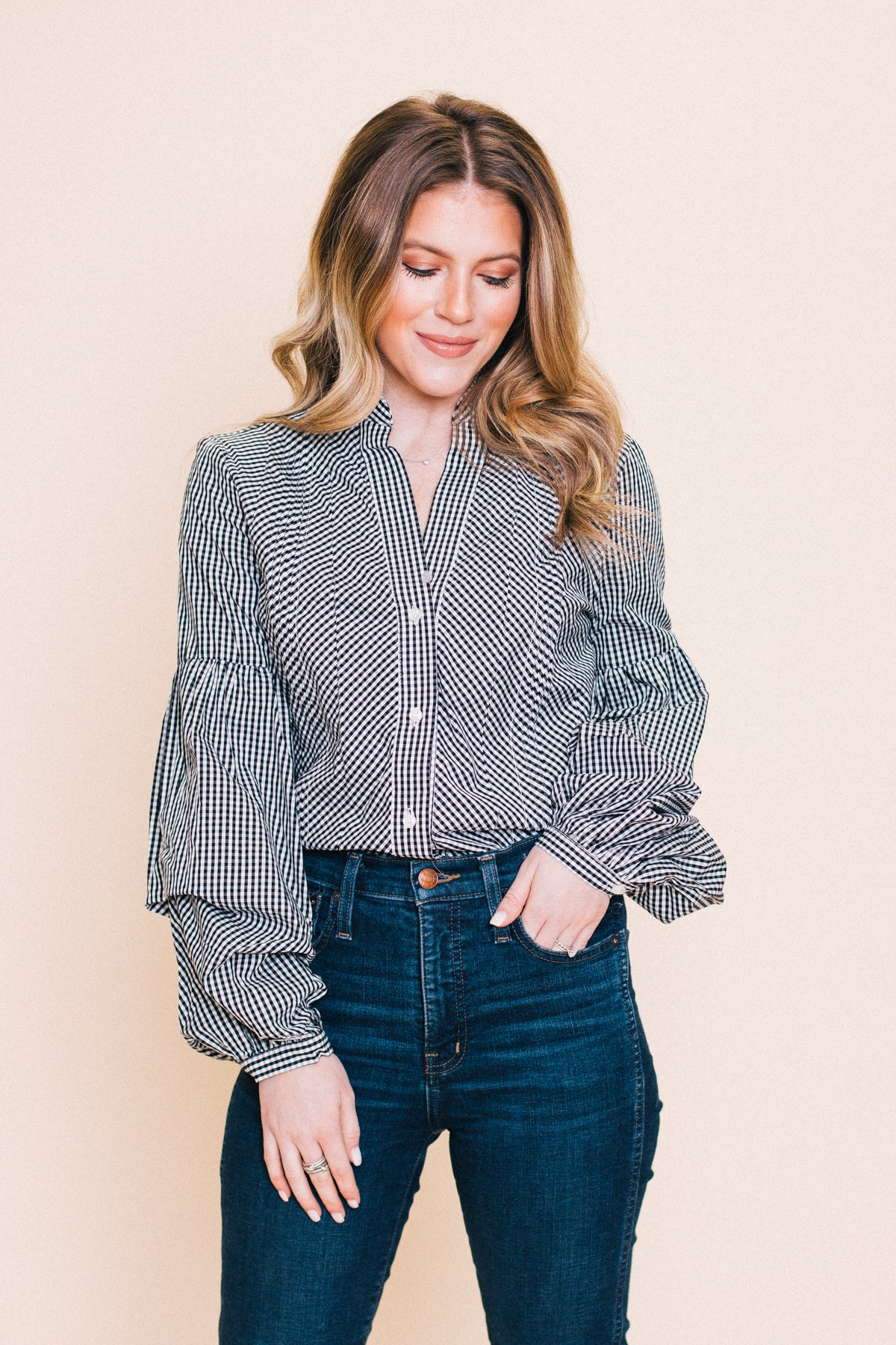 Millie Plaid Blouse