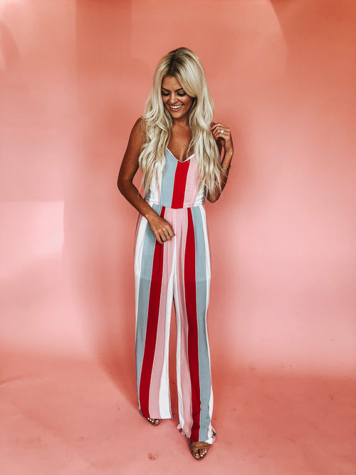 Girl Like You Striped Jumpsuit  *FINAL SALE*