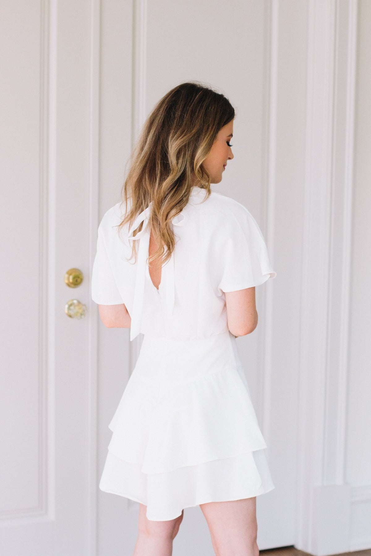 Before I Cry Dress - White