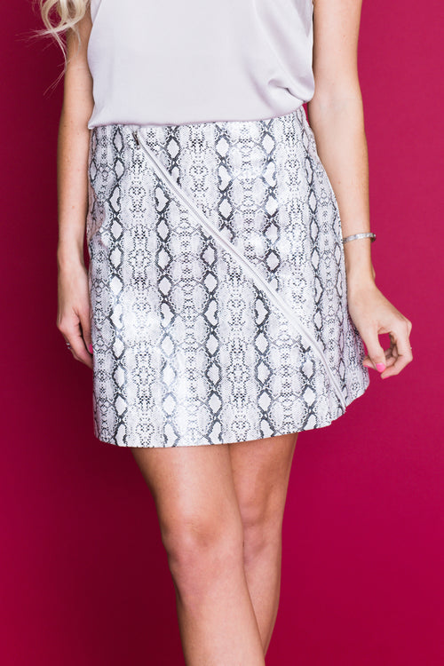 Kimmy Snake Skin Mini Skirt