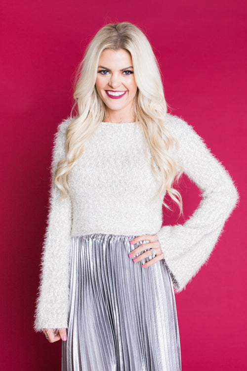 Champagne Dreams Cropped Sweater