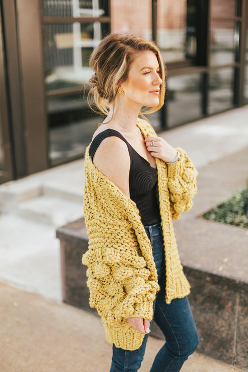 Steal Your Heart Cardigan - Mustard